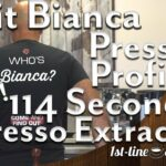 Lelit Bianca Pressure Profiling Wow! 114 Second Espresso Extraction